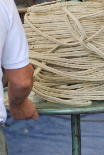 Artisanat Pays Basque tas corde espadrille_Soule